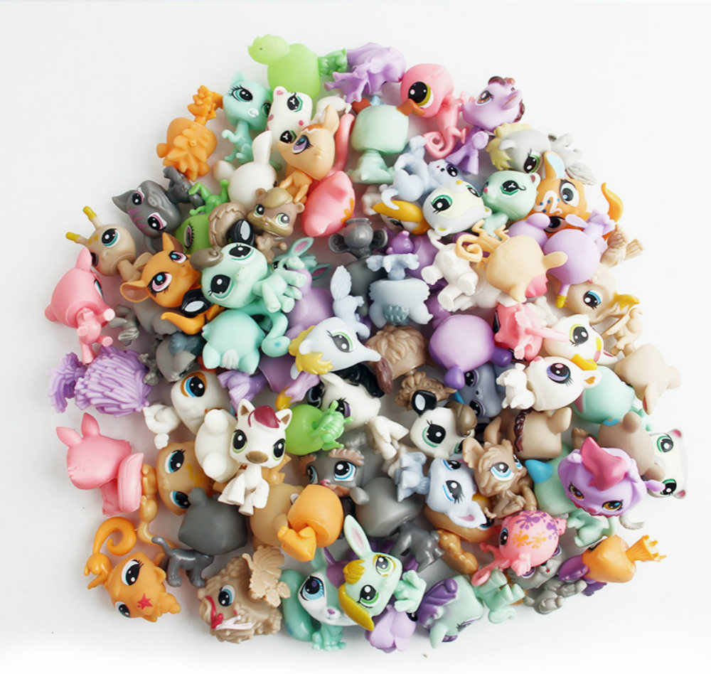 50pcs/lot Super mini 1-1.5cm LPS Unicorn Action Figures Vinyl Dolls Pets Kitty Toy Anime Kids Christmas Gifts Toys for Children