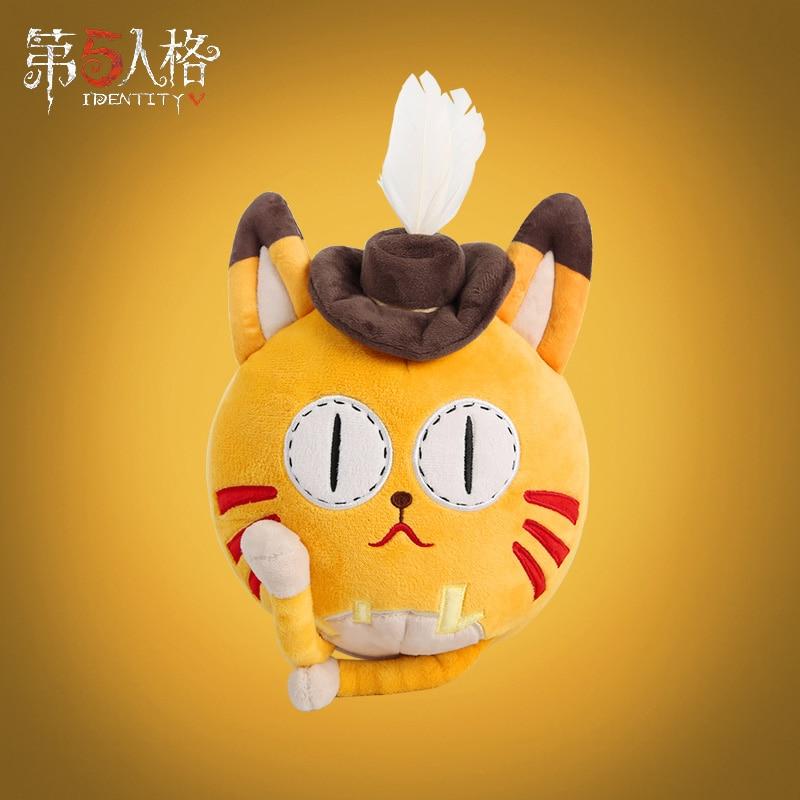 Hot Game Identity V Mr beard Follower Pet Orange cat Neko Cosplay Plush Toy Doll Cute