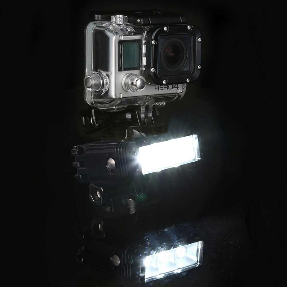 Водонепроницаемый видео фонарик с База Крепление Винт для GoPro Hero5 HERO4 Session Hero 5 4 3 + SJ4000 и для Xiaomi Сяо Yi