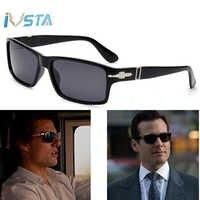 Ivsta óculos de sol polarizados dos homens óculos quadrados na moda missão de condução impossible4 tom cruise james bond designer de marca de luxo quente