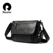 REALER brand women handbags genuine leather shoulder bag female luxury crossbody bag high quality messenger bags designer 2019(China)