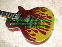 New Arrival Custom Shop Fire on Body High Quality ebony fingerboard Electric Guitar Best OEM Cheap
