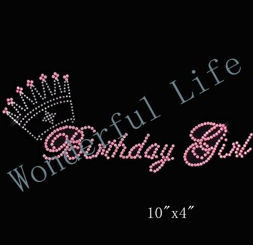 Wonderful Life free shipping birthday girl h Birthday Princess Rhinestone  Iron On Transfer Design for All 5640957ee3a9