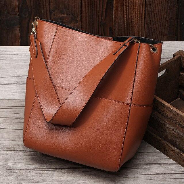 Leather handbags new network Hong A burst buckets ladies bag fashion trend  ladies bag 70ccbfcf4c39f