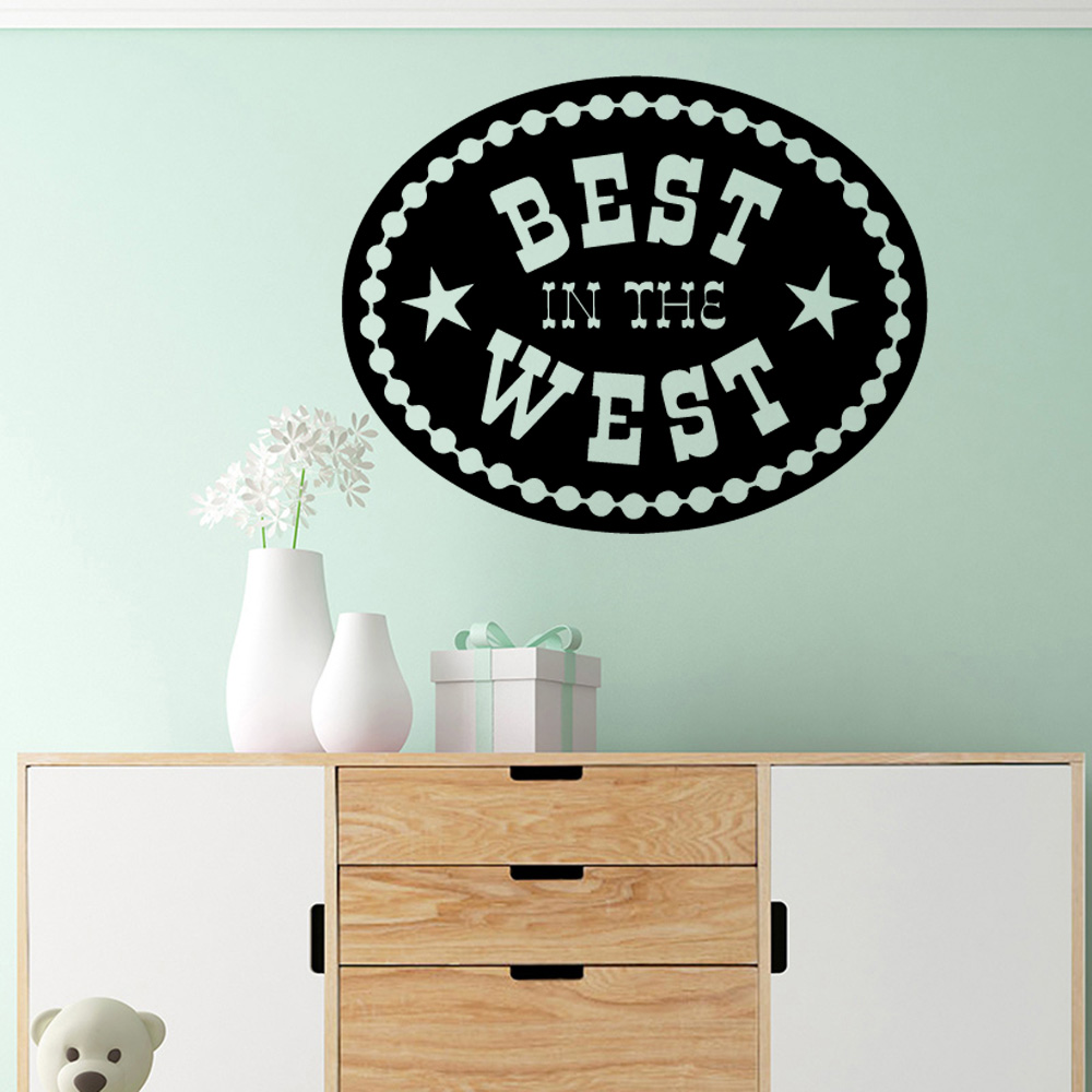 Us 1 81 20 Off Vinyl Decals Best In West Stickers Home Decoration Nordic Style For Kids Rooms Decor Accessories Murals Wall