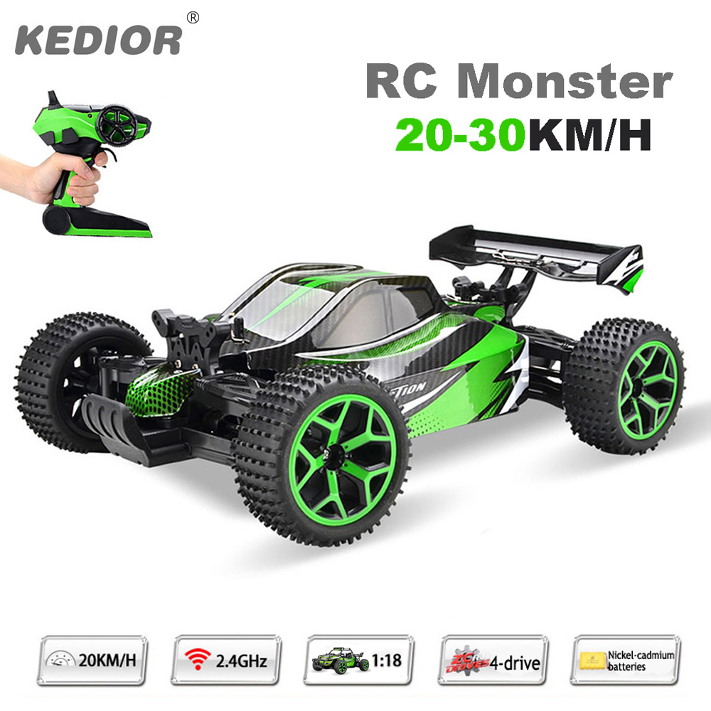 1:18 Remote Control Car Auto Radio Control 4wd RC Drift High Speed Model Toys with Rechargeable Battery VS WL A959 woyo auto car remote control tester tool diagnosis all types of infra red rf radio frequency 10 1000mhz remote control tester