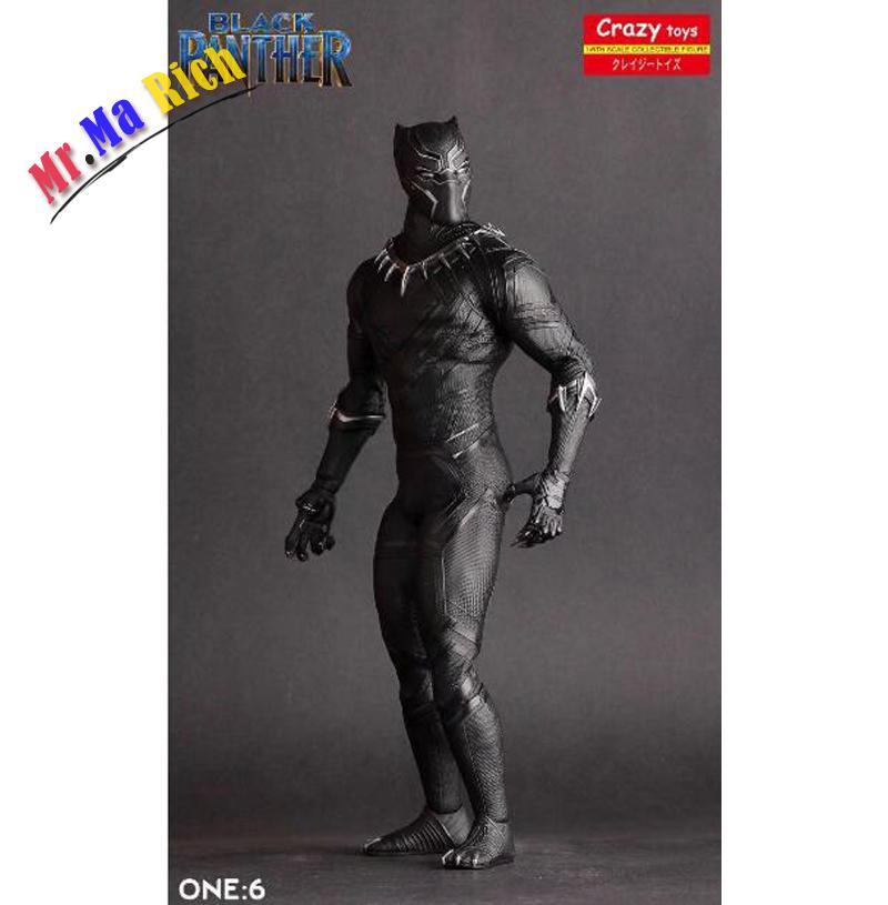 26 Cm Pazzo Giocattoli Pantera Nera Figurativo Guerra Civile Avengers Ant-man Black Panther Movable Action Figures Pvc Doll super hero ant man black panther movable action