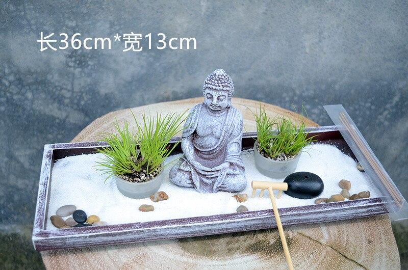 Da tavolo Zen Garden sabbia tabella Buddha meditazione creativa home hotel feng shui decorazione di Candela di Incenso Bruciatore di Complementi Arredo Casa Regalo 1