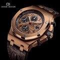 Didun men quartz relógios mens relógios top marca de luxo dos homens do esporte militar relógios rosegold relógio de pulso 30 m resistente à água