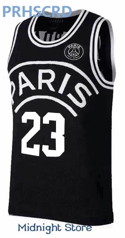 2018 new AJ PSG jerseys 23 Michael MJ NEYMA 10 jr jersey 7 MBAPPE Basketball Balck Jersey євген положій юрій юрійович улюбленець жінок