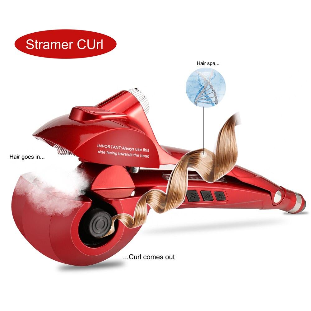 SHWOLISS 2016 Nuevo Empaquetado Hermoso Pro Rizador de Pelo Styler Y Rulo Automática Curl Hair Curling Varita UE EE. UU. enchufe