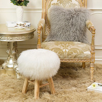 creative solid wood sofa bench shoes stool simple modern home wool stool