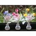 EUA Plug Colorido Romântico LED Mushroom Night Light Lamp Iluminação Casa Tulipa Luz Sensor de Inicialização Automática