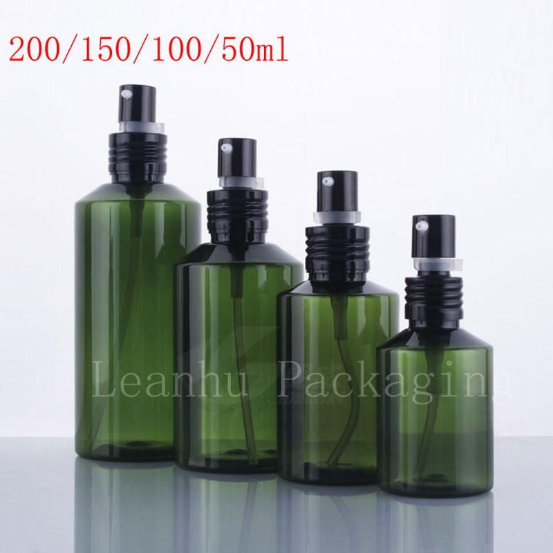 Ny ankomst tomma oljepump plastflaskor, grön krämpumpbehållare - Hudvårdsverktyg