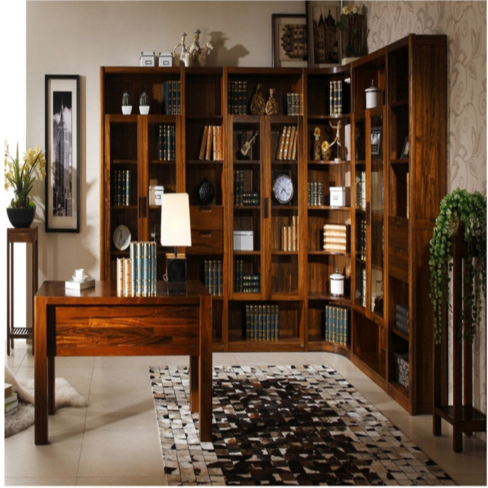 Antique Simple Style Low Price Solid Wood Bookcases With Study Table-in  Bookcases From Furniture On Aliexpress | Alibaba Group