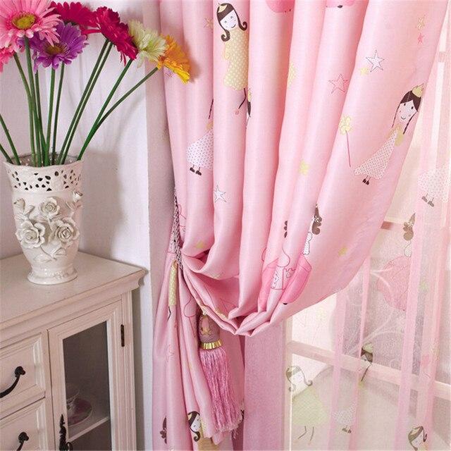 Belle rose princesse fenêtre rideaux pour enfants / enfant / filles ...