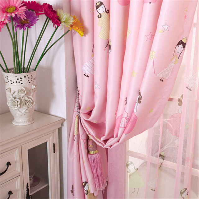 Lovely Pink Princess Window Curtains For Children/Kid/Girls Kids Room  Living Room Curtain