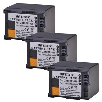 Batmax 3pcs BP-820 BP820 Replacement Camera battery for Canon XA20 XA25 HFG30 HF HF M30 HF M31 HF M40