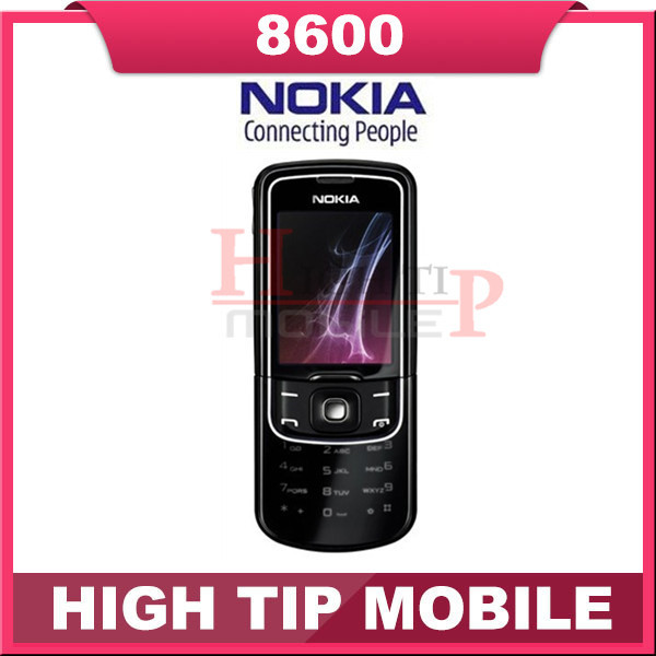 Russian keyboard support Nokia Unlocked Original 8600 Luna Mobile cell phone Free shipping 1 year warranty