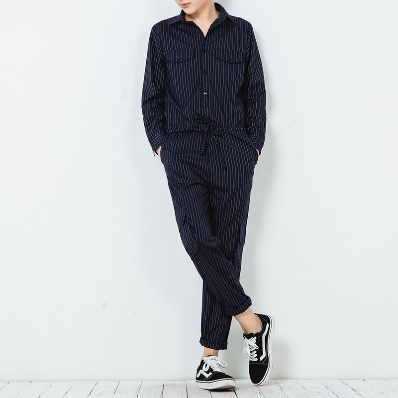 Winter autumn plus size Men Slim Striped Jumpsuits Hip-Hop Rompers Harem Bib Pants Male Harajuku Gothic Cool Overalls 072502 plus size striped harem pants