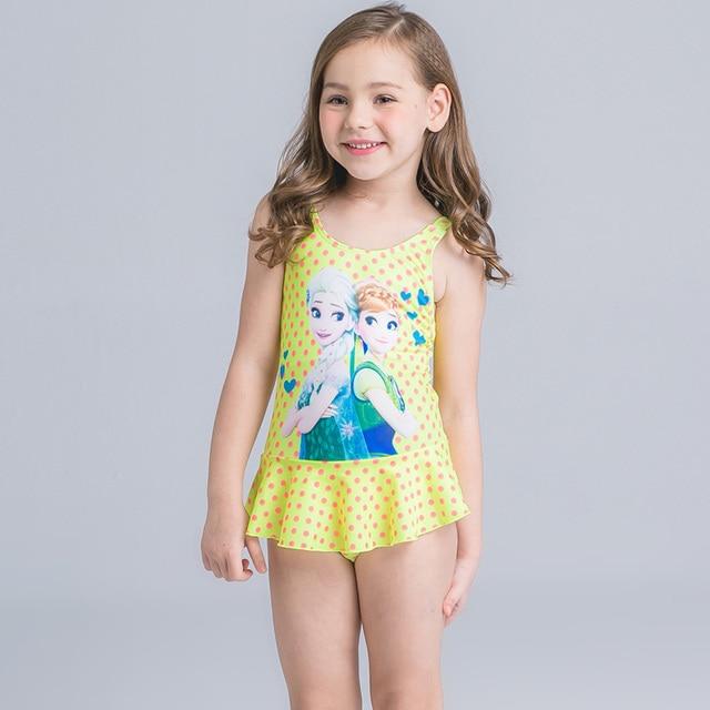 Muzhidou Baby Girls Swimwear Kids Swimming Bikinis Siamese Skirt Type Swimsuit Lace -8116