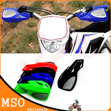 "Negro ABS motocicleta manoplas Guanteletes motocross Manillar Fit YZF 250 450 WR 250 450 CRF KLX KTM 7/8 ""22mm"