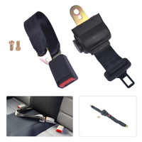 Car Auto 2 Point Retractable Seat Safety Lap Belt Strap Buckle Adjustable Security Belt For VW