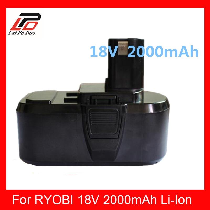 2000 mah pour RYOBI P104 batterie pour outil électrique RYOBI BPL-1815 BPL-1820G BPL 18151 BPL1820 P102 P103 P104, P105, P106, P107