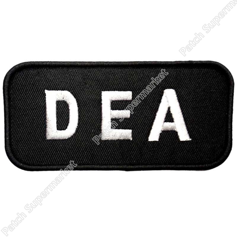 Tactical Black Dea Dea Embroidered Logo Iron On Patch Patchwork