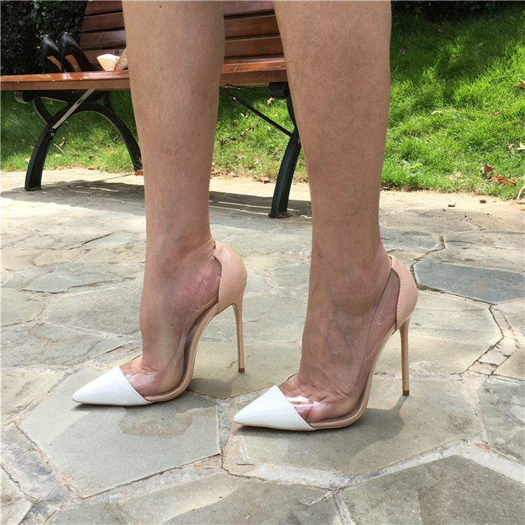 15aad5475c ... Craylorvans Women Pumps 2017 Transparent 12.5cm High Heels Sexy Pointed  Toe Slip-on Clear ...