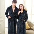 Inverno Coral Fleece Roupões Vestes Para As Mulheres Peignoir Soie Femme Mujer Albornoz Roupão Vestes Roupões Para As Mulheres Homem