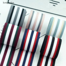 kewgarden 40mm  4cm Stripe Ribbons Handmade Tape Satin Ribbon DIY Bow Accessories Riband 4m /lot