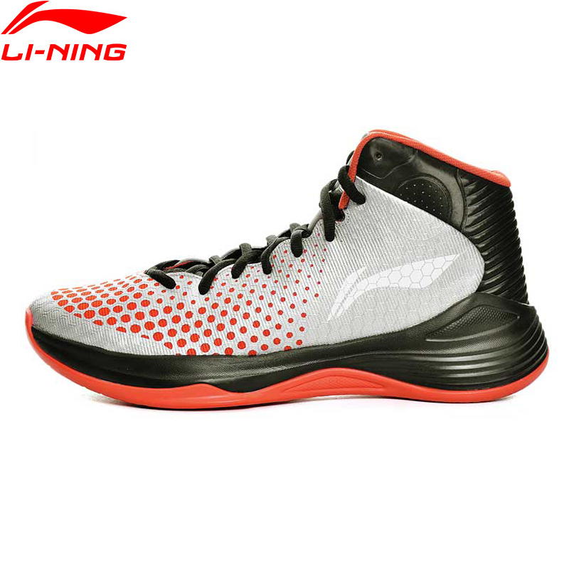 Li-Ning Print Street Men's Basketball Shoes Cushioning Breathable Stability Professional Sneakers Sports Shoes ABPL019 XYL092 li ning men s professional basketball shoes dmx breathable dynamic shell sound v td series sports sneakers abpm005