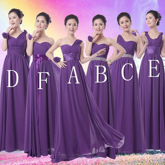 Chiffon Maxi Dress Purple Bridesmaid Dresses 2015 Prom Long ...