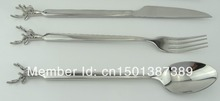 Stainless Steel Stag Knife For Spoon Set  Hunting Gift