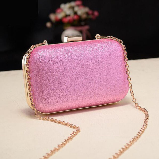 Luxury Glitter Women Wedding Bride Shoulder Bags Gold Evening Bags Party Day Clutches Purses Wallet Sequins Chain Handbags Li693