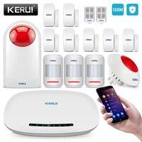 KERUI Smart Home GSM Alarm System Security Auto Dial Burglar Alarm Kit With 110db Outdoor Siren