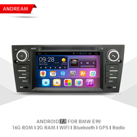 Quad Core 2G RAM 16G ROM Car DVD Player Stereo Android 7 1 Navigation BT For