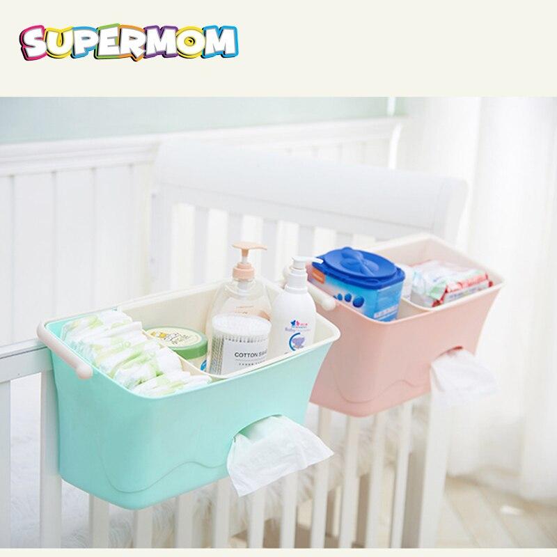 Baby Bed Hanging Storage Box Infant Bedding Crib Diaper Bag Bedside Organizer Toy Diaper Pocket for Crib Bedding Set Baby Stuff