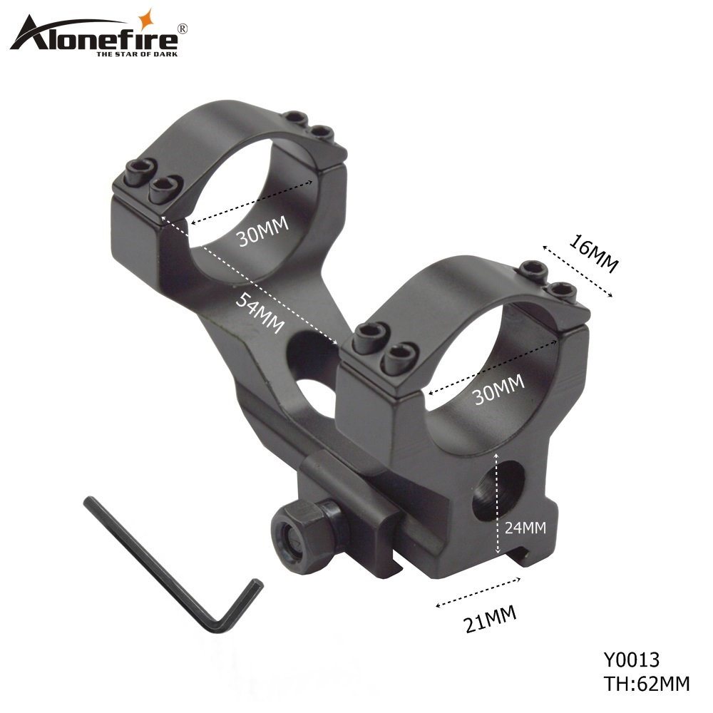 AloneFire Y0013 Hunting Tactical Scope Mounts Heavy Duty 30mm Cantilever Picatinny/Weaver Rail 21mm For Rifle Gun Accessories