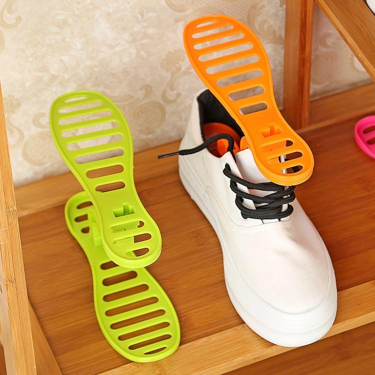 Hot sale 1 pair creative design space save shoes rack shoe storage shelf shoes rack organizer - Creative shoe rack designs ...