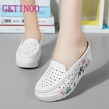 Gktinoo 여름 여성 신발 플랫폼 슬리퍼 웨지 플립 플롭 여성 하이힐 슬리퍼 여성 캐주얼 샌들 여성 신발