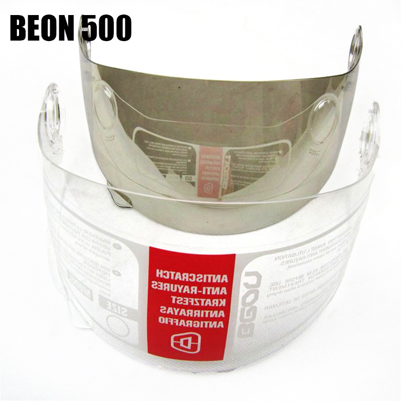 Marke BEON jethelm visier objektiv B-110 motorrad helm visier spiegel PC material Anti-Uv moto helm visier