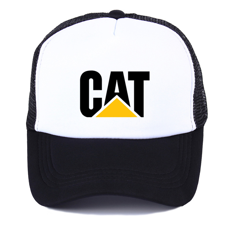new fashion CAT Logo Printing summer net   cap   truck driver women men   baseball     cap   snapback hat Youth sun hat Beach Visor hat