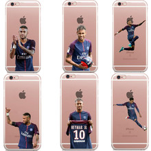 Paris Saint Germain PSG Cover Case for iPhone5 5S SE 6 6S Plus football Neymar jr Soft Phone Cases For iPhone X 7 7Plu 8 8Plus(China)