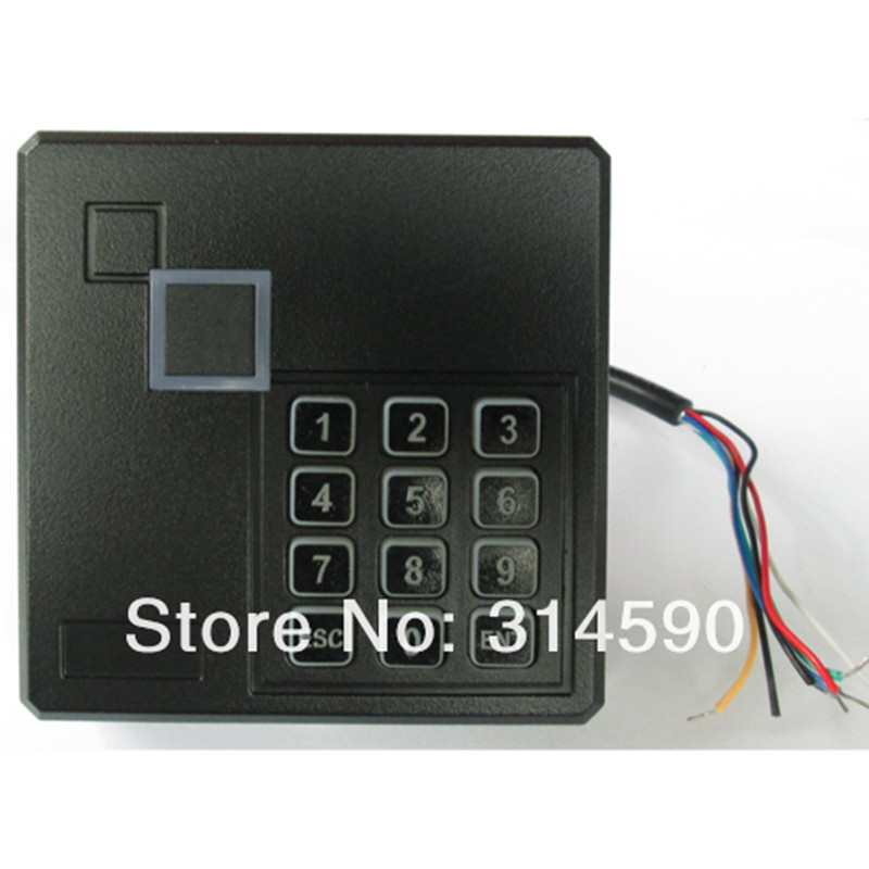 RFID Card Proximity Reader with Keypad WG26 For Access Control System Punch EM Card Reader For Access Control Board wg26 34 waterproof touch keypad access control card reader for rfid access control system f1688a