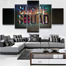 5 Pieces Suicide Squad Logo Movie Poster Wall Art Picture Home Decor Living Room Canvas Print Printing On