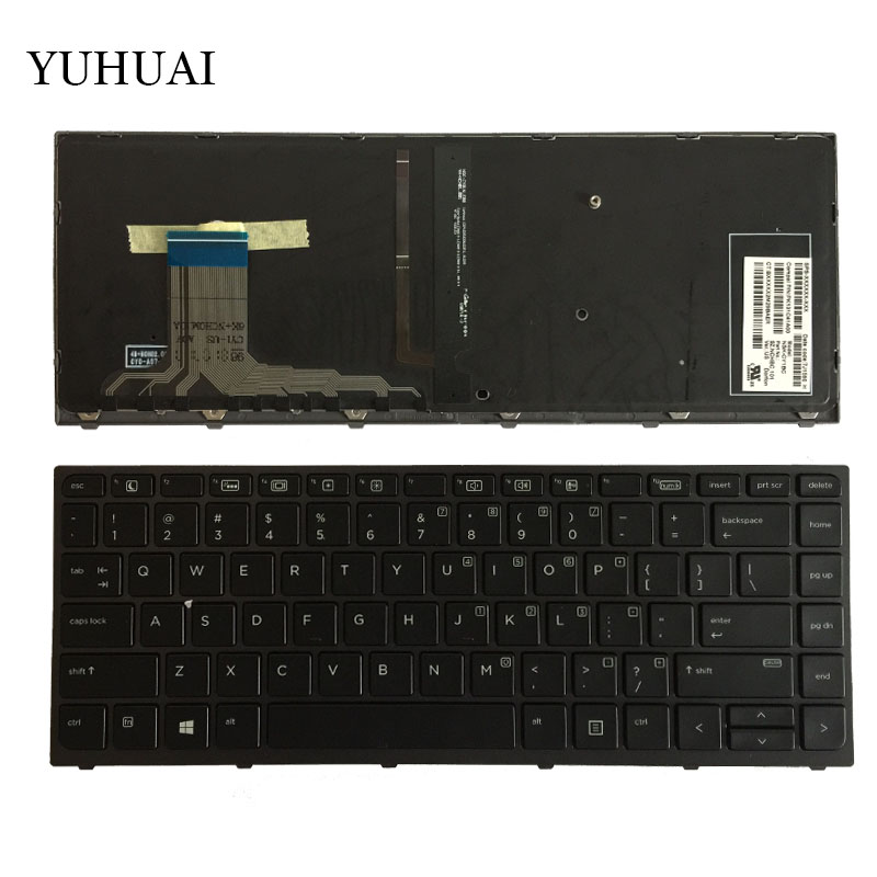New US Laptop keyboard for HP ZBook Studio G3 With Backlit & Frame NSK-CY1BC PK131C41A00 English keyboard new us keyboard for acer aspire vn7 793g vx5 591g vx5 591g 52wn us laptop keyboard with backlit