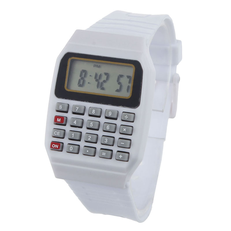 Unsex Silicone Multi-Purpose Date Time Electronic Wrist Calculator Watch Fabulous new fashion design unisex sport watch silicone multi purpose date time electronic wrist calculator boys girls children watch