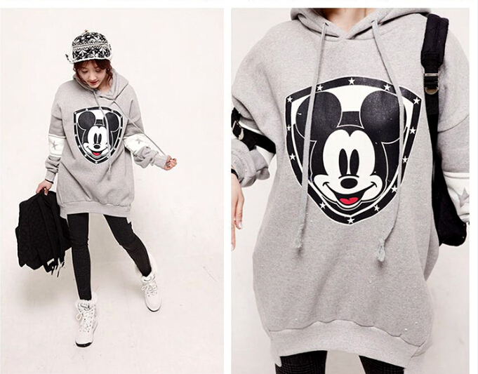 ba3c7432ce0 US $28.99 |cute korean clothing winter tops for women hoodie fleece women  sweatshirt free size with ears plus size animal hoodies women-in Hoodies &  ...